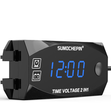 2 In 1 Automotive Durable Large Easy Use Led Portable Car Digital Display Multifunctional Electronic Clocks Universal Voltmeter