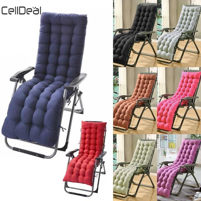Cotton Soft Seat Replacement Cushion Pad Garden Sun Lounger Recliner Chair