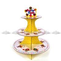 New cartoon 3 tier cupcake giấy đứng tắm trẻ em sinh nhật màn đảng khay tự chọn muffin dessert trang trí bánh thanh kẹo