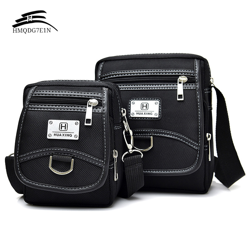 Grosir New Fashion Korean pria Messenage Bags Oxford kain Tas Kecil Black Crossbody Shoulder Bag