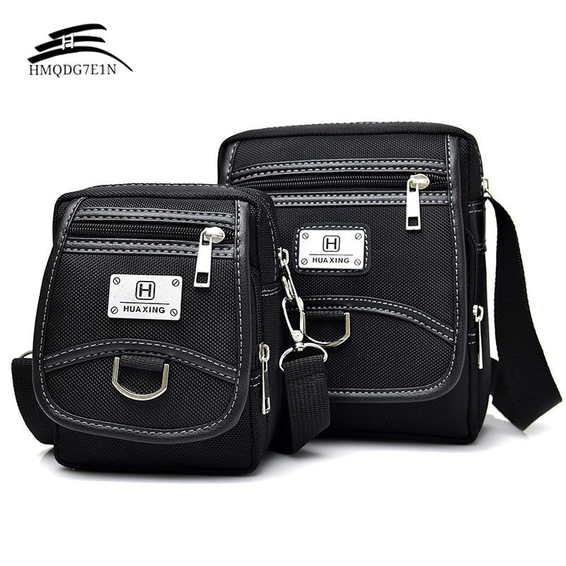 Wholesale New Fashion Korean Men's Messenage Bags Oxford Cloth Small Handbags Black Crossbody Shoulder Bag