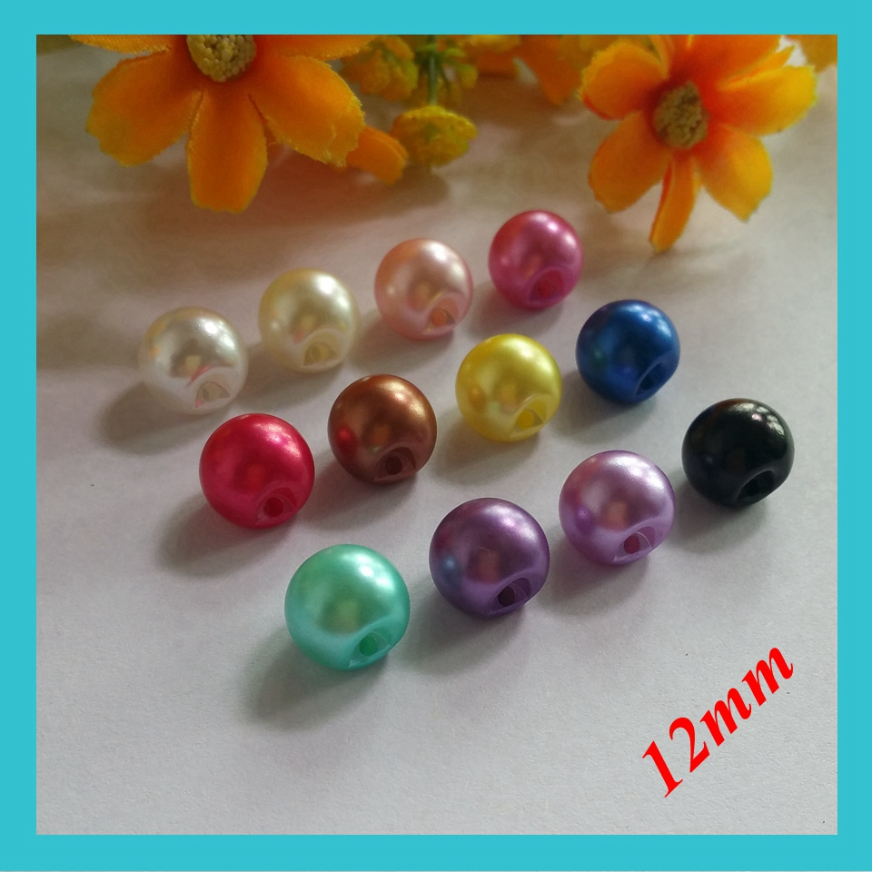 120Pcs 12MM Wedding 12 color Pearl Button Flatback DIY Buckle Hot Craft Jewelry Accessory Sewing Craft decorative buttons