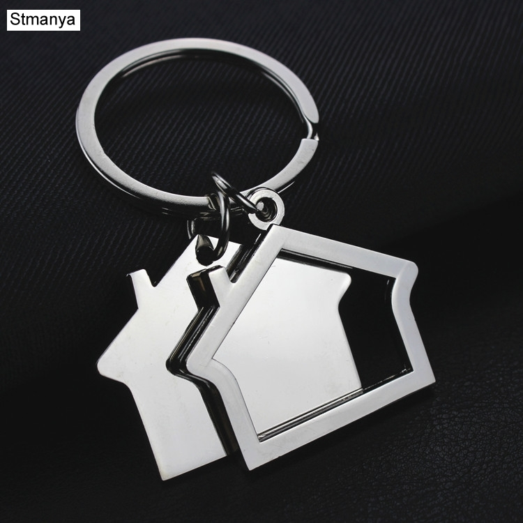 House Key Chain Hut Small Gift Key Pendant Creative Real Estate Opening Gift Wholesale Can Be Laser Lettering K1523