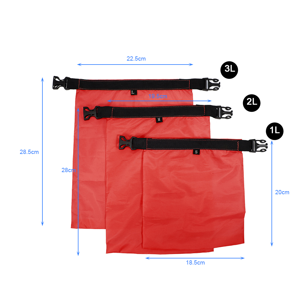 Image 2 - 1L+2L+3L Waterproof Dry Bag Pack Sack Swimming Rafting Kayaking River Trekking Floating Sailing Canoing Boating Water Resistance-in Storage Bags from Home & Garden