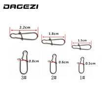 DAGEZI 100 pcs/lot Stainless steel swivels  fishing gear accessories Connector copper swivel fishing tackle box fly fishing lure