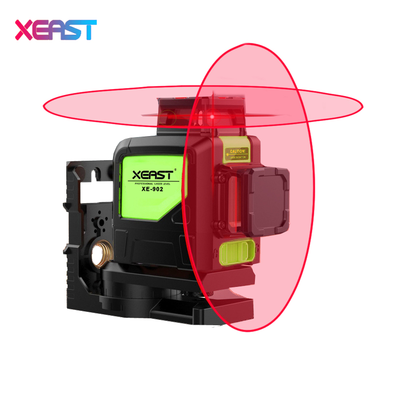 2017 New XEAST 8line laser level 3D Laser Level XE-902 360 Vertical And Horizontal Self-leveling Cross Line Red Beam high quality southern laser cast line instrument marking device 4lines ml313 the laser level