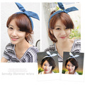 Korean hair jewelry rabbit ears headband cowboy paragraph Korean bow hair bandwidth, free home delivery