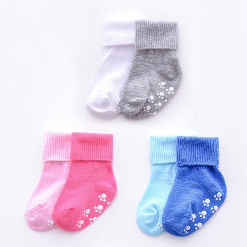 Toddler  Cotton Soft  Girls Boys Candy Color  Baby Socks Newborn Anti Slip