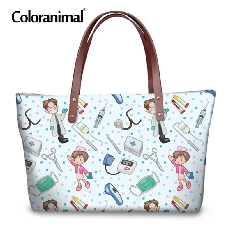 26b7c3b41a Coloranimal Nurse Tote Bag Women Brand Design Casual Large Shopper Shoulder  Bag 3D Cute Cartoon Nursing