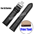 Quality Genuine Leather Watchband Soft Strap 22mm LG G Watch R Urbane W150 Leather Watch Band Bracelet