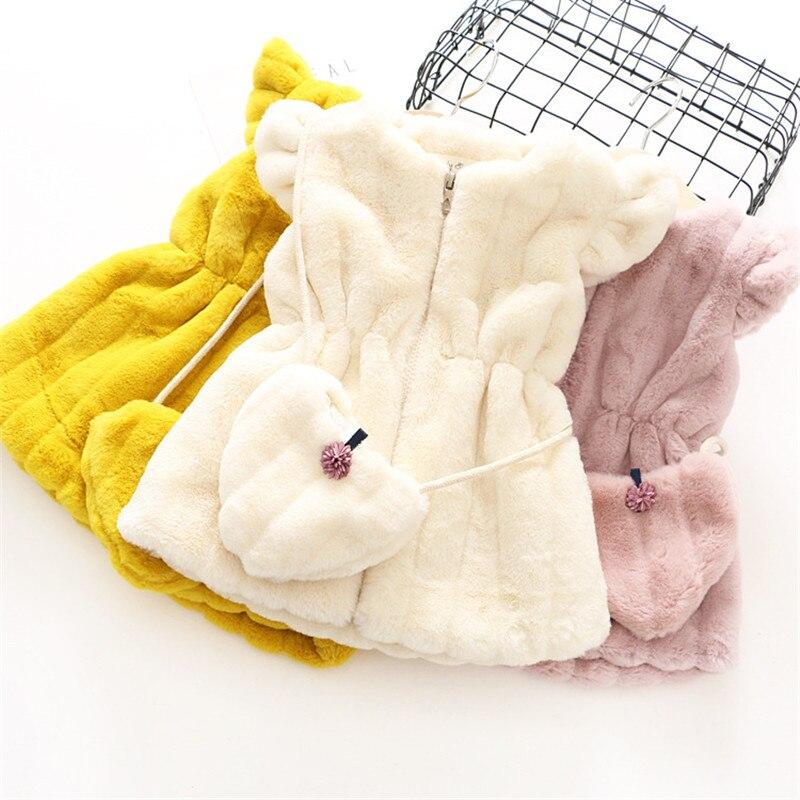 casaco da menina colete com saco roupas menina 03