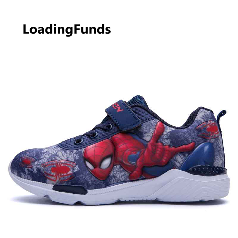 LoadingFunds Boys Sneakers Children Shoe Kids 3D Spiderman Sports Shoes Baby Outdoor Running Shoes zapatos nino air breathable