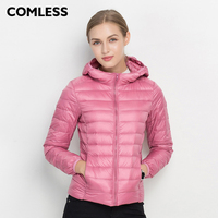 COMLESS 18 Colors Fashion Spring Autumn Jacket With Hood Women Hoodies Slim Fit Outwear Jacket SizeXXXL