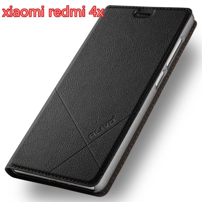 Xiaomi Redmi 4x Cassa di Cuoio DELL'UNITÀ di elaborazione Business Series caso di Vibrazione del basamento Della Copertura Per Xiaomi Redmi 4x #0918 con L'inseguimento numero.