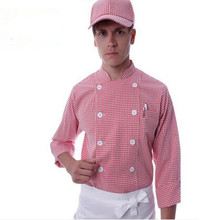 grid chef unifoms chef clothes chef clothing kitchen cook uniforms autumn chef tops long sleeve restaurant uniforms