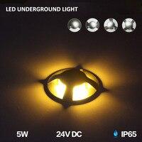 10pcs/lot IP65 5W led buried lights 24V Led outdoor waterproof stainless steel floor lights led underground light