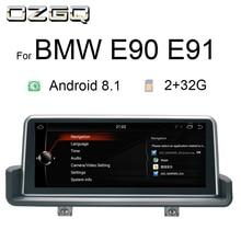 цена OZGQ 10.25 Inch Android 8.1 Car Multimedia Player GPS Navigation Stereo Headunit For 2005-2012 BMW E90 E91 E92 E93 With Idrive
