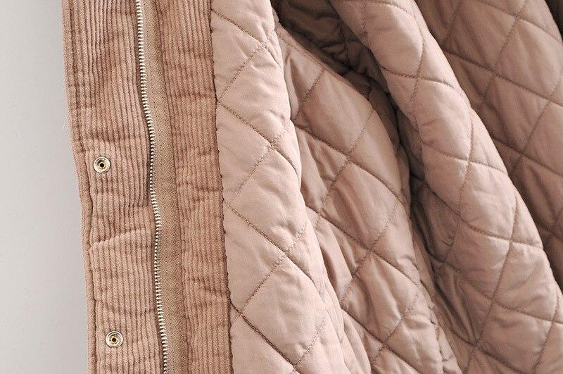 Livraison Capuche Femelle Shows The Velours Extérieure Veste En hiver Automne Nouveau De Picture Cordon Confortable Chaude Mode Côtelé Gratuite As rqXzHr