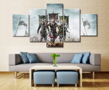 For Honor Game 5 Piece HD Print Wall Art Canvas Art For Living Room Decor Painting Wall Art Canvas Home Decor Picture Artwork цена