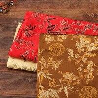 WIT CF05 Wintersweet Brocade Jacquard Fabric For Traditional Chinese Fabric Wedding Cheongsam Fabric Mulberry Silk DIY