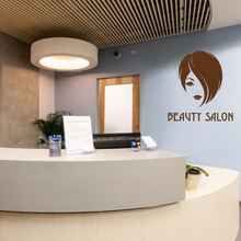 YOYOYU 40 colors Art Vinyl wall sticker Girl Head Hair Salon Removeable Wall decal Bedroom Saloon Decor Poster ZX081