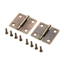 2Pc 38x34mm Antique Bronze Furniture Cabinet Drawer Door But