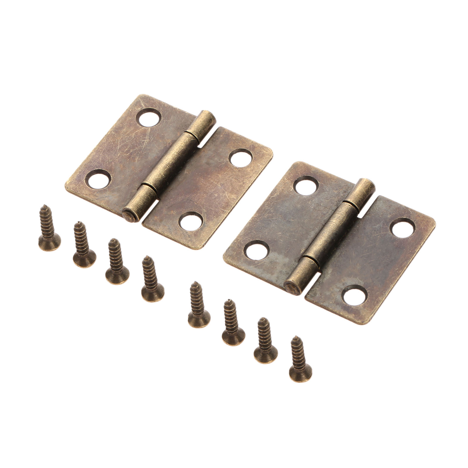 2Pc 38x34mm Antique Bronze Furniture Cabinet Drawer Door Butt Hinge Jewelry Wood Box Decorative Hinge Vintage Furniture Hardware