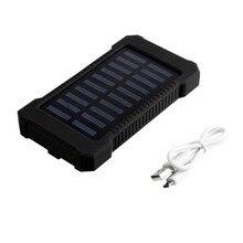 Wopow Solar power bank 30000mAh Portable charge Powerbank Waterproof Dual USB External Battery Bank for xiaomi Outdoor Emergency