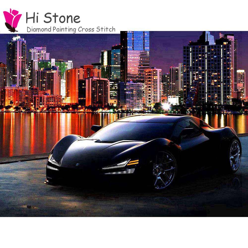 Алмазная Вышивка спортивный автомобиль 5D DIY алмаз живопись полный плац алмаз автомобиль украшение дома Картины подарки