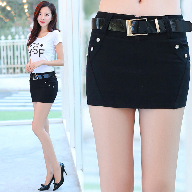 2018 spring and summer new European and American skirts women package hip skirt stretch a word skirt wild thin step skirt