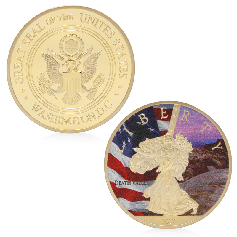 Gold Plated US Washington D.C. Liberty Challenge Commemorative Coin Collection