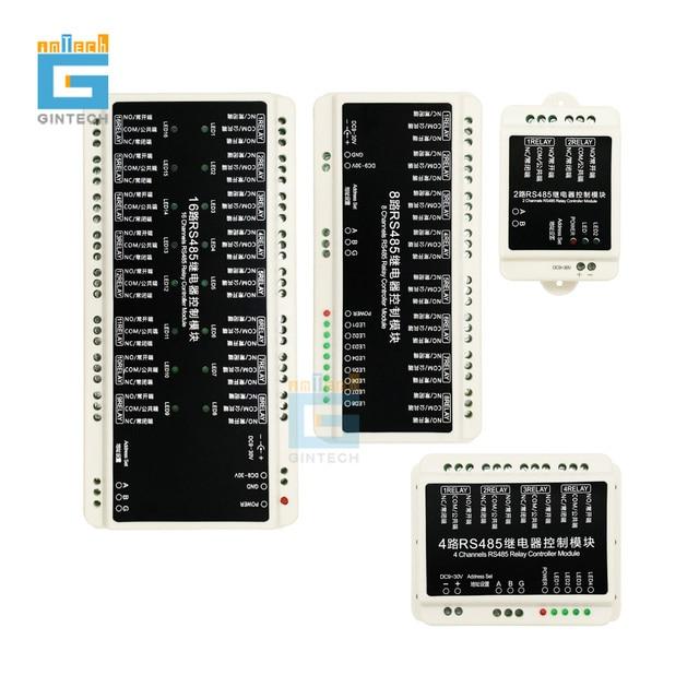 Frete grátis RS485 comunicação controlador de relé módulo PLC automação monitoramento interruptor inteligente