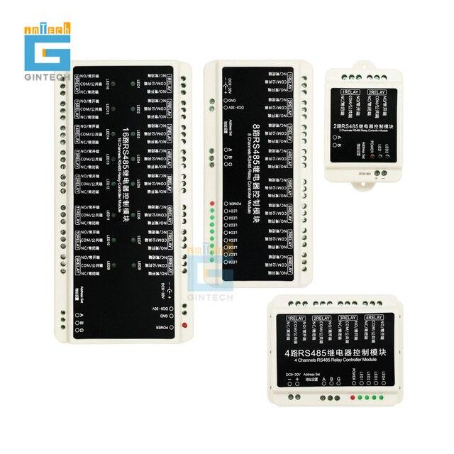 Módulo de Control de relé de Comunicación RS485, control de interruptor inteligente de automatización PLC, envío gratis