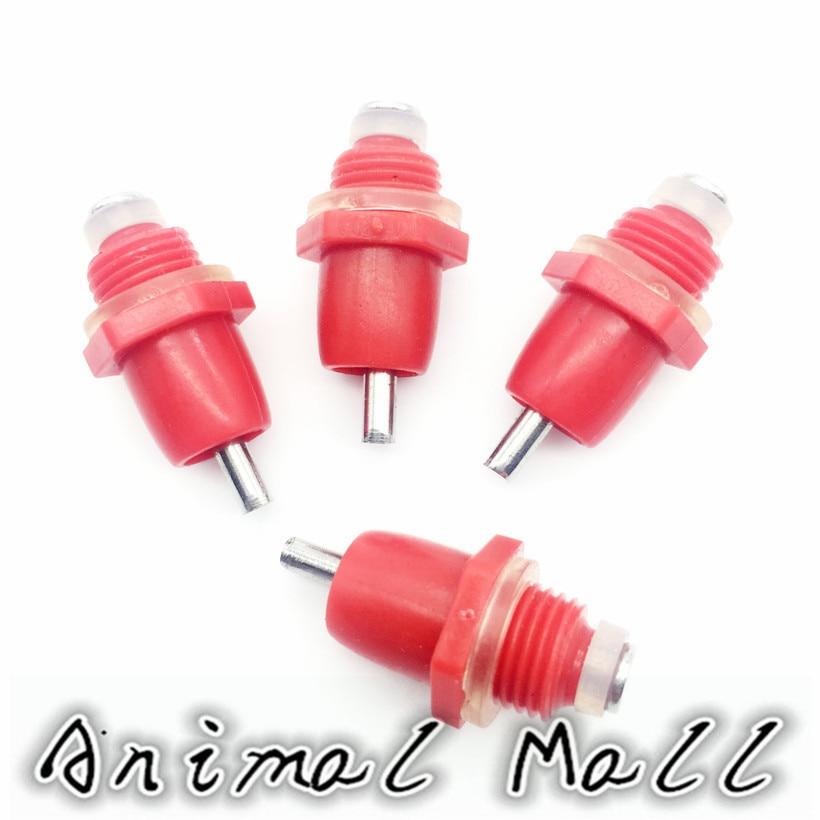 10 Pcs Tipo de Mola de Alta Qualidade Vermelho De Frango Mamilos Potável Frango Com Boca de Frango Dispensador De Água Automático de Água Potável