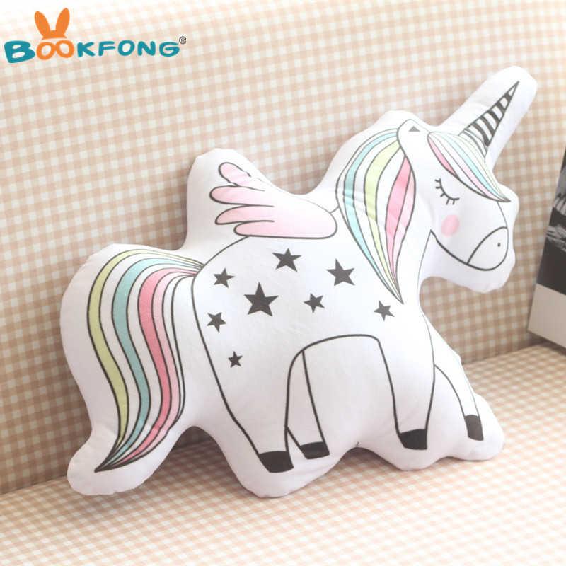 Kawaii плюшевая игрушка единорог мягкое мороженое мягкая плюшевая подушка кукла в форме животных детский Декор для детских комнат Детские Подарочные игрушки