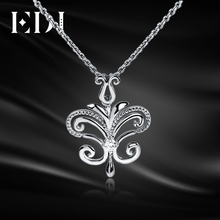 EDI Genuine Real 18k 925 Sterling Silver Lab Grown Pendants For Women Moissanite Necklaces Butterfly Fine Jewelry