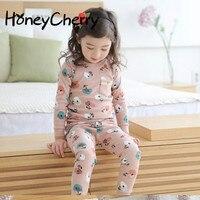 ملابس الأطفال منامة تأثيث المنزل القطن داخلية في النسخة الكورية من لون متنوعة منامة الاطفال ملابس