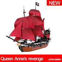 Building Blocks Lepin 16009 1151pcs Queen Anne S Revenge Pirates Of The Caribbean Set Christmas Gifts