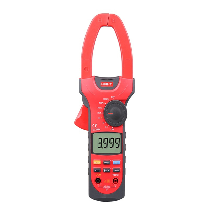 True Rms Uni-t UT205A LCD Digital Clamp meter Multimeters DC AC Volt Ampere Ohm Hz Auto Range Tester High Accuracy uni t ut205 ture rms auto manual range digital handheld clamp meter multimeter ac dc voltage aca test tool