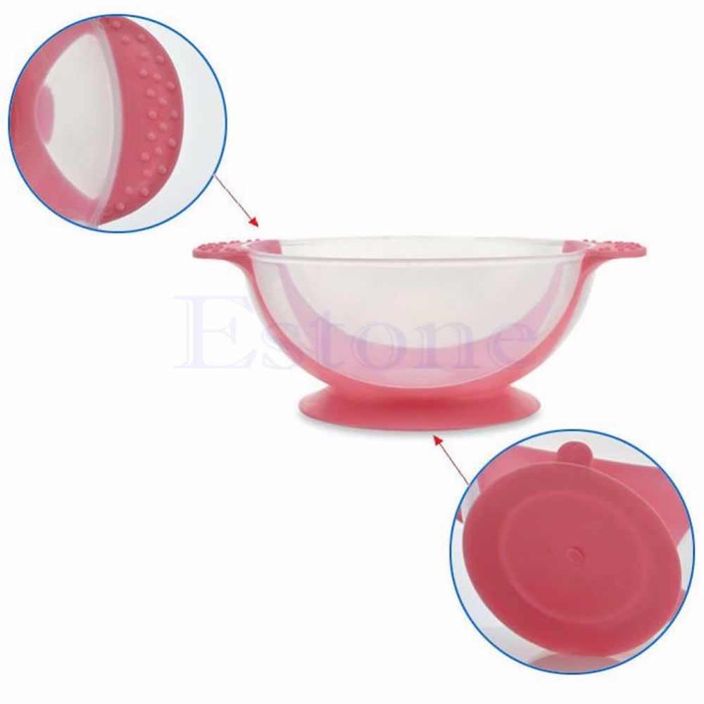 Infant Baby Feeding Suction Base Training Bowl Slip-resistant Bowl Tableware Blue/Red/Yellow