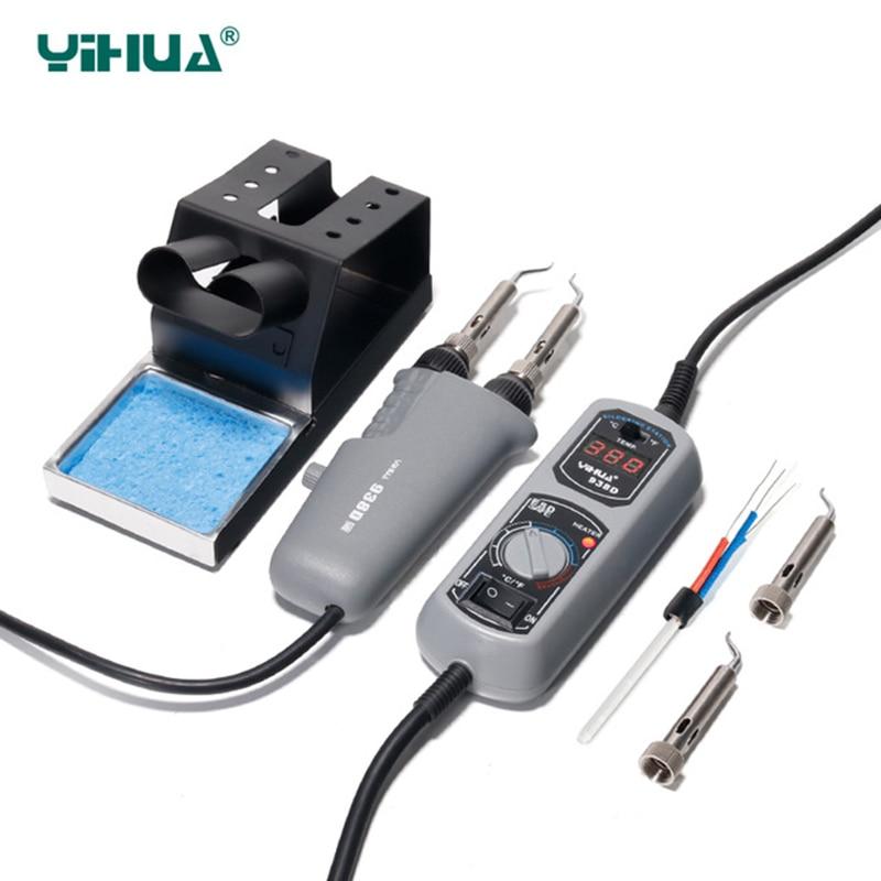 YIHUA 938 Tweezers Mini Soldering iron Station Portable Hot Tweezer for BGA SMD repairing Tweezer iron