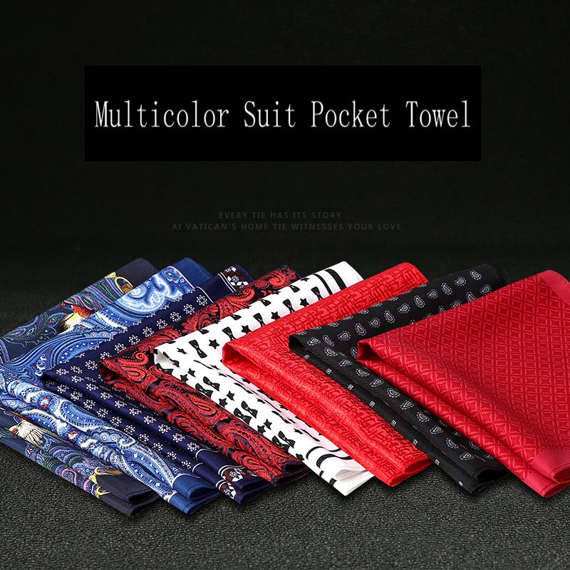 Men's Formal Business Wedding Groom Marriage Suit Pocket Towel Necktie & Pocket Square  Men's Classic Tie SPY002