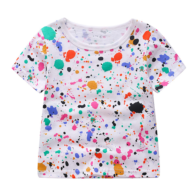 baby girl boy tshirt short sleeves summer 2018 girls and boys t shirt top clothes children t-shirt kids tops for 2-8 years