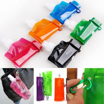 Creative Bag Foldable Bottle Collapsible Water Folding Outdoor Sport Chic Cups Plastic Environmentally Portable Large Capacity