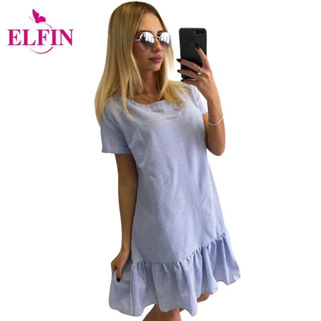 2017 Summer Dress Women Solid Striped O-neck Slim Beach Dress Candy Elegant Sexy Dress Women Dresses Vestidos LJ9649R