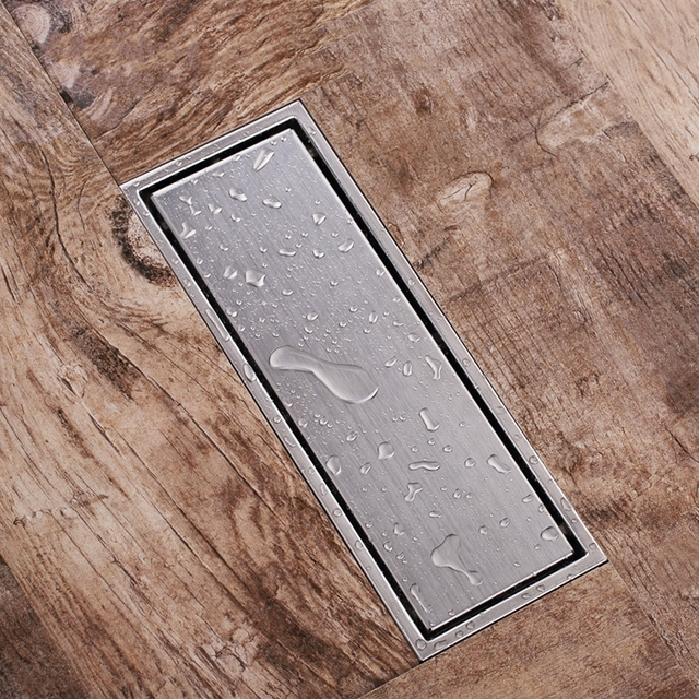 Stainless Steel Invisible Linear Shower Floor Drain Wetroom Grate ...