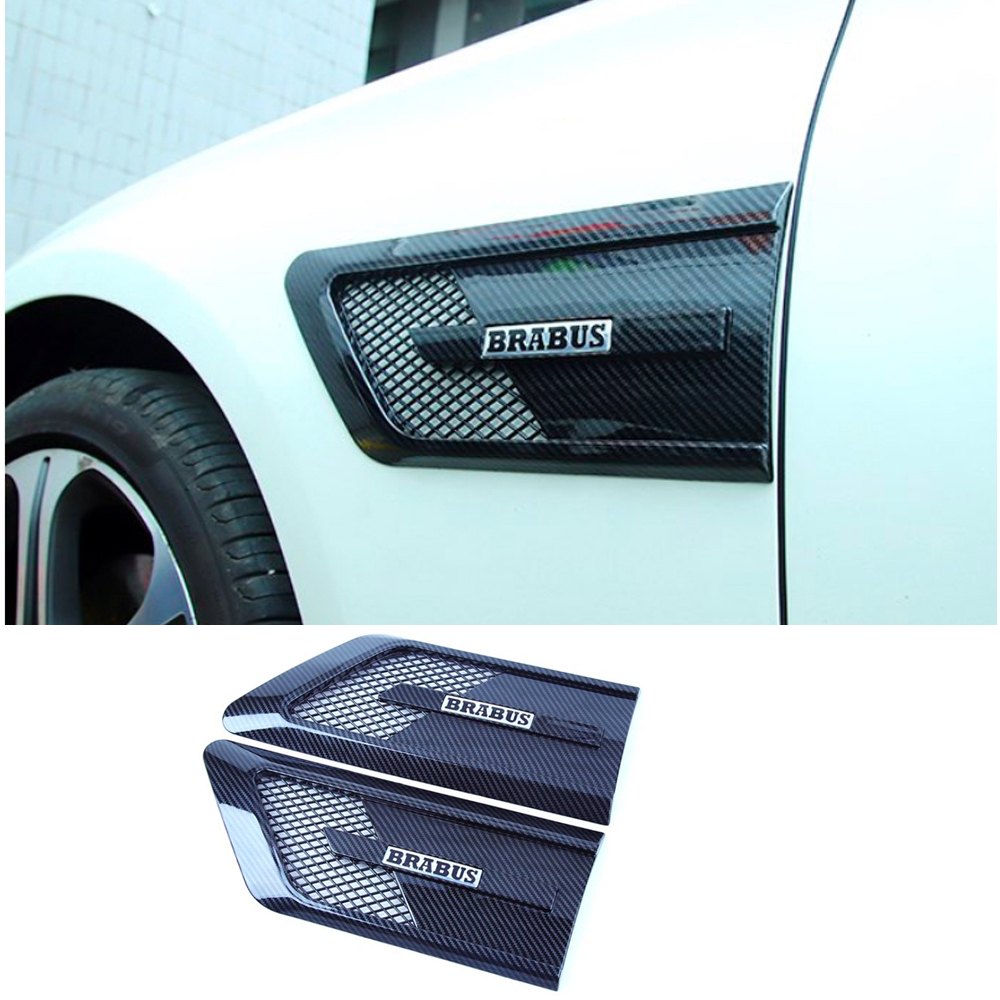 <font><b>W205</b></font> Carbon c coupe Side Fender Vent Trim for Benz <font><b>w205</b></font> c180 <font><b>c200</b></font> c300 c43 2 door not fit for c63 <font><b>amg</b></font> 2015-2018 image