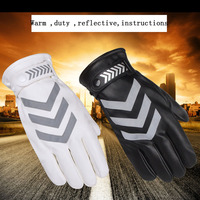 Traffic police at night Reflective fabric Men women Standing patrol Advanced material Gloves Full Finger Thick warm Gloves