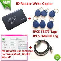 125KHZ RFID ID Card Reader Writer Copier Duplicater For Access Control 5 PCS EM4305 T5557 Tags