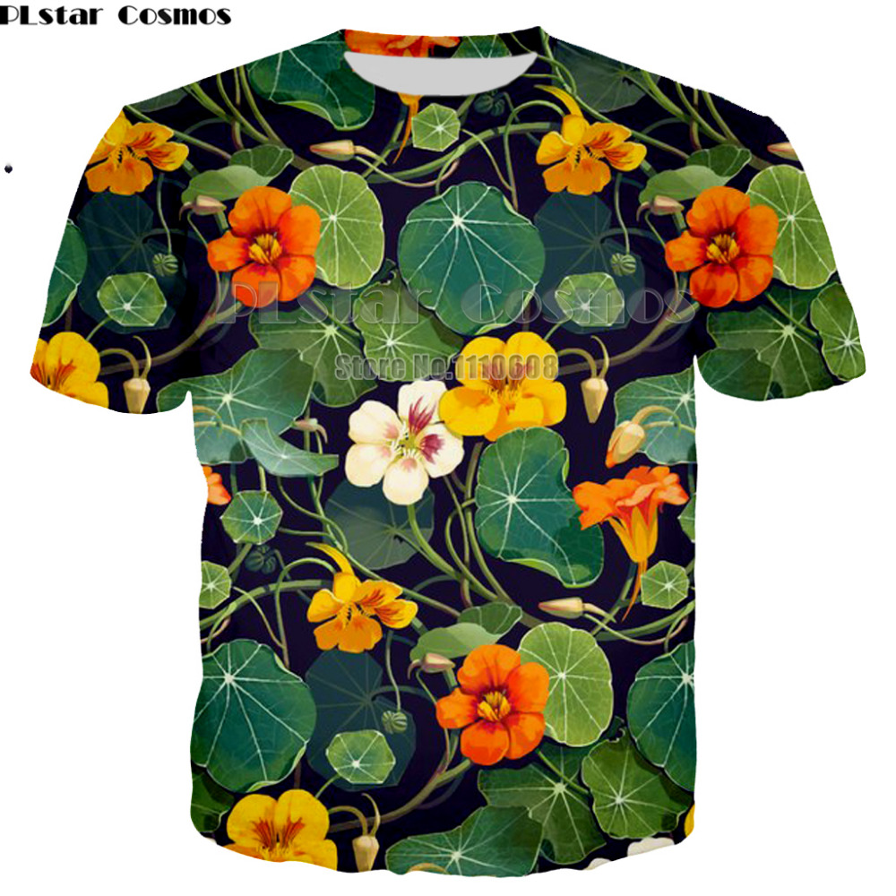 PLstar Cosmos Newest summer fashion Short sleeve t shirts colorful 3d print harajuku Men Women casual unisex tee large size